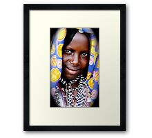 A Fallata woman in all her finery Framed Print