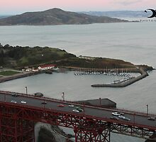 A view of the Golden Gate Bridge and Fort Cronkhite by 2Canons