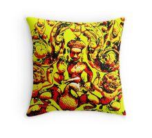 Angkor Carvings Throw Pillow