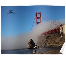 The Marine Layer flowing over the Golden Gate Bridge Poster