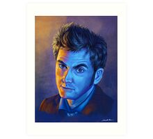 Doctor Who Tenth Doctor - Intense Art Print