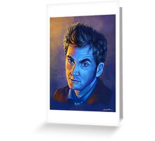 Doctor Who Tenth Doctor - Intense Greeting Card