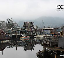 The Floating homes in Sausalito, CA by 2Canons