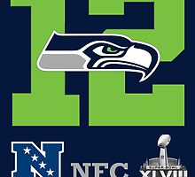 Seattle Seahawks NFC Champions by AbsoluteLegend