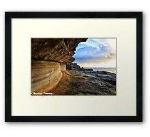 Rockface at sunrise Framed Print