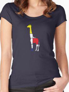 Art Giraffe- Neoplasticism Women's Fitted Scoop T-Shirt