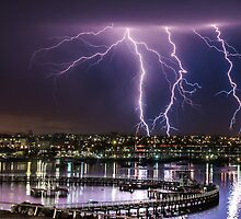 Storms over Geelong Waterfront by bneum