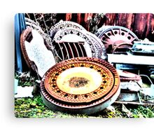 Manhole covers Canvas Print