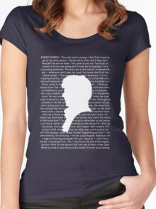 SHERLOCK Best of Quotes Women's Fitted Scoop T-Shirt