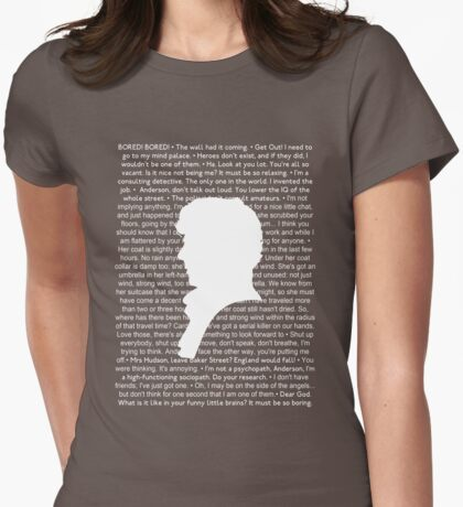 SHERLOCK Best of Quotes Womens Fitted T-Shirt