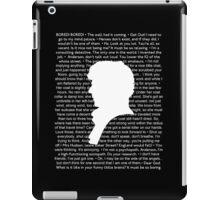 SHERLOCK Best of Quotes iPad Case/Skin