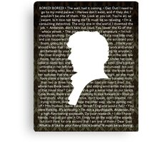 SHERLOCK Best of Quotes Canvas Print