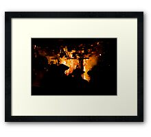 Nozawa Fire Festival Framed Print