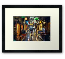Rainy Day in Bohemian Melbourne Framed Print
