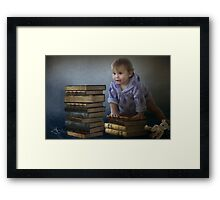 Building blocks to a better future Framed Print