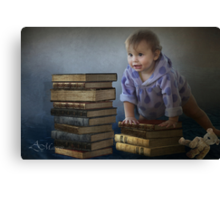 Building blocks to a better future Canvas Print