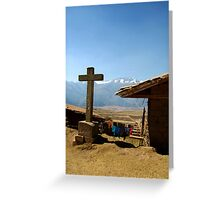 Village in the High Andes Greeting Card