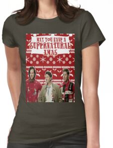 Supernatural Christmas Womens Fitted T-Shirt