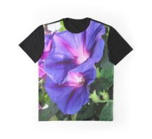 A Pair of Vibrant Morning Glories In Full Bloom Graphic T-Shirt