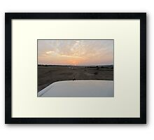 The Kenyan Sunrise Framed Print