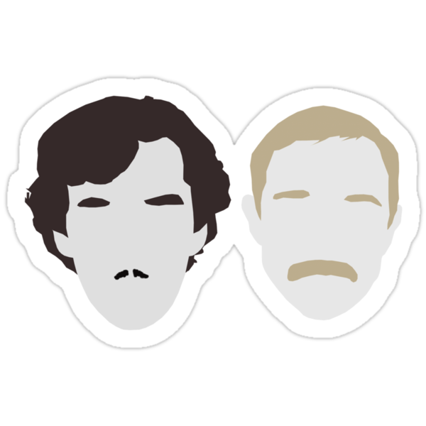 Moustache Detectives - Minus text. by heythisisBETH