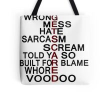 GetScared Song title art Tote Bag