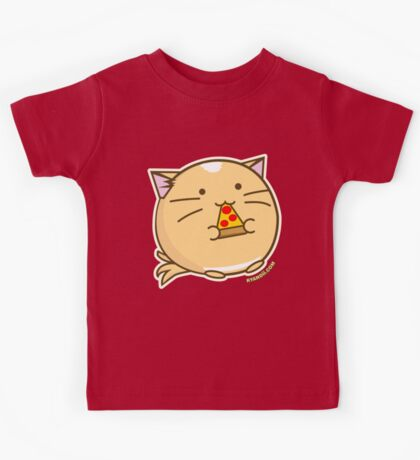 Fuzzballs Pizza Cat Kids Tee