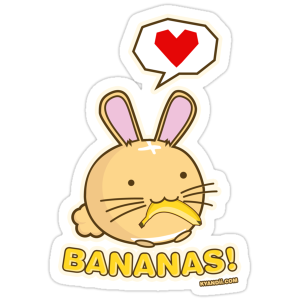 Fuzzballs Bunny Bananas! by rabbitbunnies