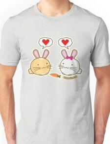Fuzzballs Bunny Love Carrot Unisex T-Shirt