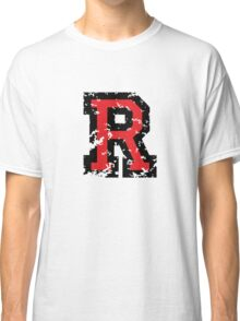 Letter R (Distressed) two-color black/red character Classic T-Shirt