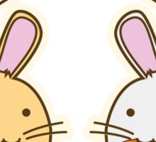 Fuzzballs Bunny Food Love Sticker