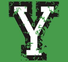 Letter Y (Distressed) two-color black/white character Kids Clothes