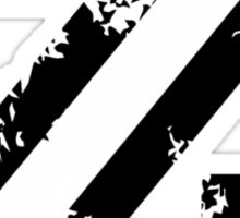 Letter Z (Distressed) two-color black/white character Sticker