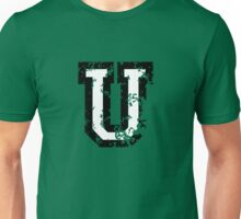 Letter U (Distressed) two-color black/white character Unisex T-Shirt