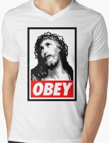 Obey J C Mens V-Neck T-Shirt