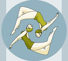 Retro Synchronised Swimmers by Jaaay