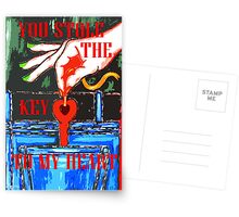 YOU STOLE THE KEY TO MY HEART 2 Postcards