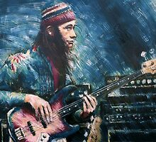 Portrait of Jaco Pastorius by Franko Camue