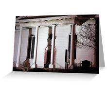 Church facade at Night Greeting Card