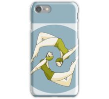 Retro Synchronised Swimmers iPhone Case/Skin