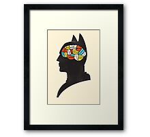 Batman Phrenology Framed Print