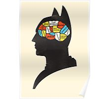 Batman Phrenology Poster