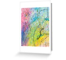 Colour Of Music Greeting Card