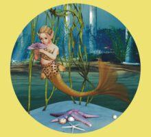 Little Mermaid holding Anemone Flower T-Shirt