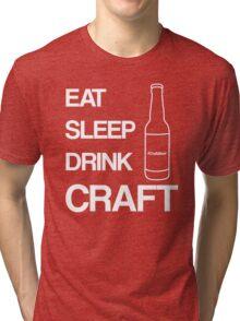 Eat Sleep Drink Craft Beer White Tri-blend T-Shirt