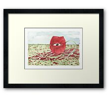 In a field of blind poppies, one eye is king Framed Print