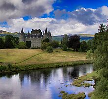 Inveraray Castle, home of the Duke of Argyll by Islandsimages