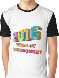 2016 Year of the Monkey Low Polygon Graphic T-Shirt