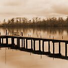 Pier In Sepia by WeeZie