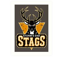 STORM'S END STAGS Art Print